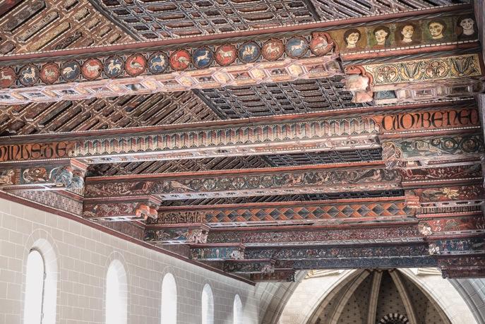 Charpente peinte de la cathédrale Sainte-Marie de Teruel (Aragon, Espagne), XIIIe siècle (© Georges Puchal)