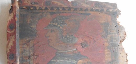 """Portrait d'un gentilhomme avec """"borgognotta"""", Breno (Brescia) Museo Camuno CAMUS, fin XVe-début XVIe siècle"""